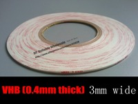 0 4mm Thick 3mm 33M White Strong VHB Double Adhesive White Foam Tape For Smartphone
