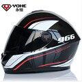 Frete grátis YOHE YH966 Motocicleta capacete de corrida capacete Dê cachecol quente