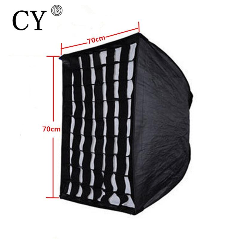 Photography Soft Box Photo Studio 70x70cm(28x28) Umbrella Softbox Reflector+Grid For Speedlite Flash Fotografia Light Box