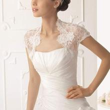 Женские Короткие рукава с крылышками кружевной свадебный для невесты Jakets обертывания для свадебной одежды