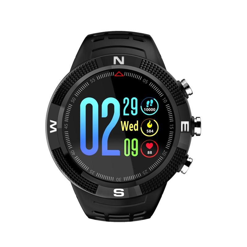 F18 GPS Della Vigilanza Degli Uomini di Sport Intelligente Orologio Inseguitore di Fitness Heart Rate Monitor di Nuotata Tracker IP68 Smartwatch Connect IOS Android Phone