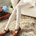 3D Solid Vertical Flower Pearl Sweet Stripe Stockings Tights Slim Pantyhose Stockings Sexy Women Girls Tights 3 color w37