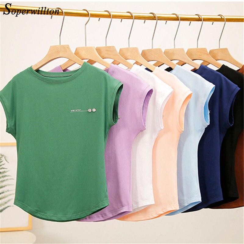 Tshirt magro macio das mulheres verão manga curta topos azul preto roxo feminino t camisa grande tamanho casual camiseta rosa topos S-3XL