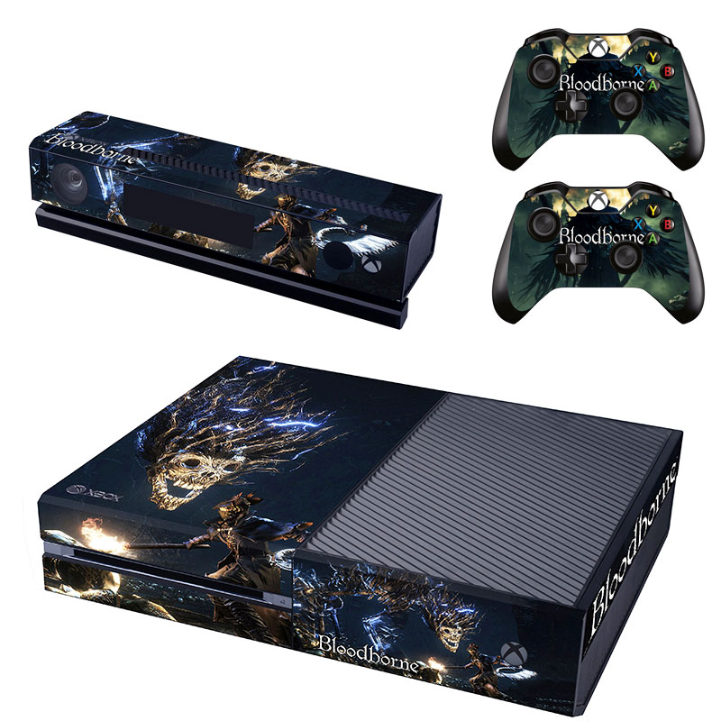Bloodborne Decal Skin Sticker for Microsoft Xbox One Kinect and Console and 2 Controllers Vinyl Game Stickers