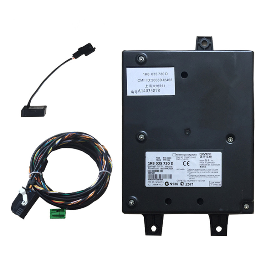 Bluetooth Module Direct Plug Harness 9w2 1k8 035 730 D Fit: RCD510 9W2 Bluetooth Module+Plug&Play Harness+Microphone