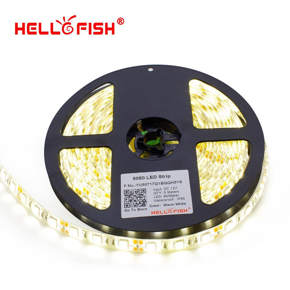5050 IP65 Waterproof LED strip LED flexible light LED tape 5M 300 led chips DC12V white warm white blue red yellow RGB стоимость