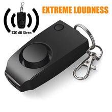 Alarme 130db som seguro ataque de emergência auto defesa chaveiro alarme pessoal dispositivo anti estupro