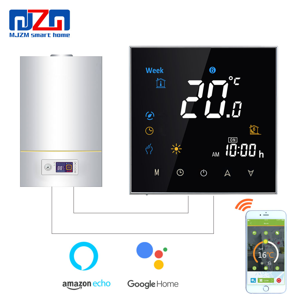 MJZM GL 3000 WiFi Thermostat Smart Gas Boiler Thermostat Boiler Heating Temperature Controller fits Google Home