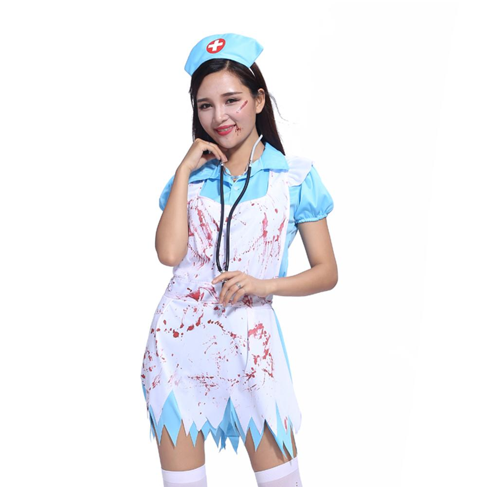 3dd4ecce6b517 Brand New Female Costumes Set Halloween Cosplay Costumes Masquerade Parties  Horror Hospital Nurse Bloody Doctor Theme Costumes-in Scary Costumes from  ...