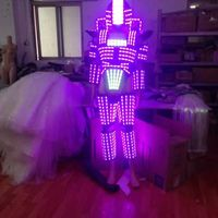 LED Robot / LED Costume /LED Clothing/Light suits/ The programming controller sets the helmet