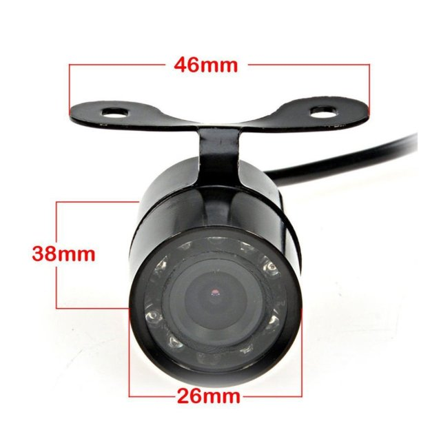 Car Parking Assistance IR Infrared light Waterproof Car Rear View Camera IR Night Vision for parking rear Backup View Camera