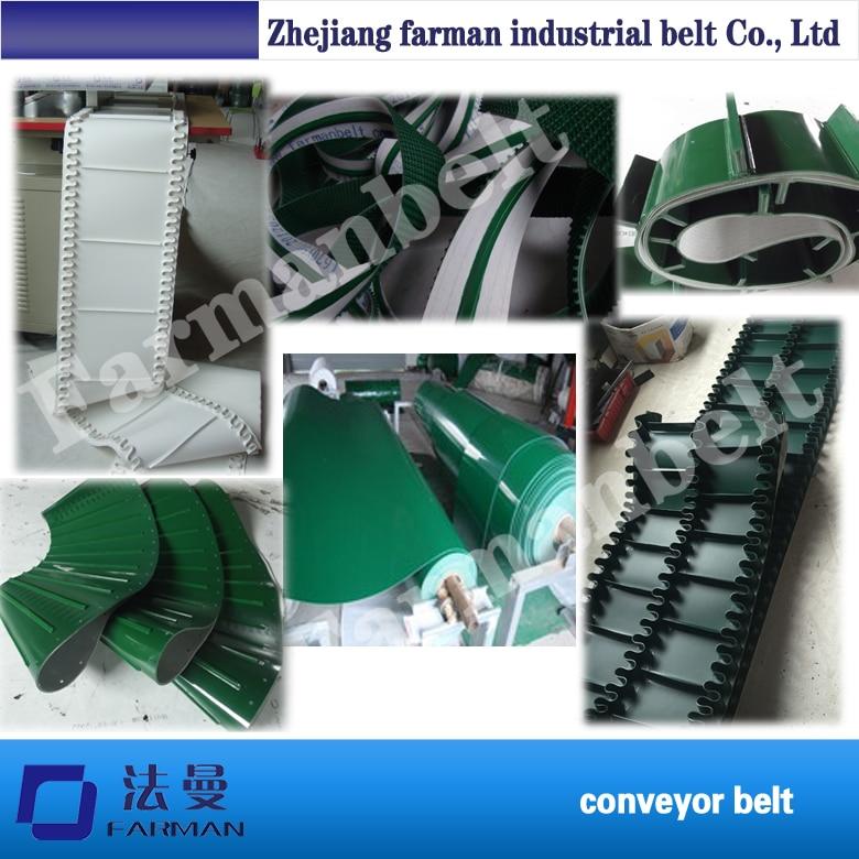 China Manufacture Farman Polyethylene Pvc Endless Conveyor Belt farman pvc conveyor belt thickness 1 5mm color green