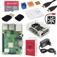 Kit d'origine Raspberry Pi 3 modèle B + Plus UK + écran tactile 3.5 pouces + boîtier + alimentation + 32 go SD + HDMI + dissipateur thermique + câble USB