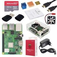 Original Raspberry Pi 3 Modèle B + Plus ROYAUME-UNI Fait Kit + 3.5 pouce Écran Tactile + Cas + Puissance + 32 gb SD + HDMI + Radiateur + USB Câble