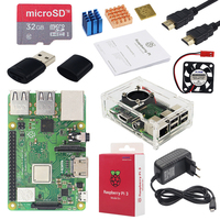 Original Raspberry Pi 3 Model B+ Plus UK Made Kit + 3.5 inch Touchscreen + Case + Power + 32GB SD + HDMI + Heatsink + USB Cable