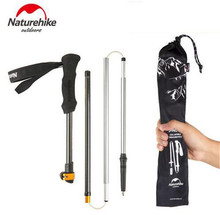 NatureHike 1 Pcs 5 Sections Carbon Fiber Ultralight Adjustable Walking Stick