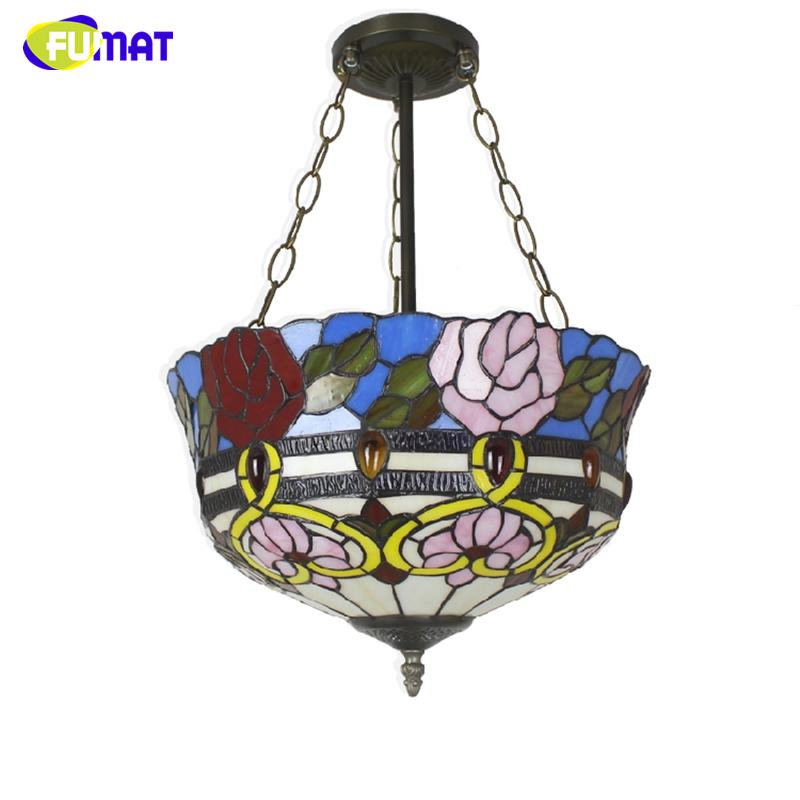 Fumat stained glass pendant light antique rose glass shade fumat stained glass pendant light antique rose glass shade suspension lights living room glass baroque kitchen light fixtures in pendant lights from lights aloadofball Image collections