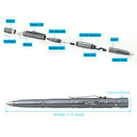 Hot Multi-function Tactical Pen Survival Military LED Flashlight Glass Breaker Self Defense Tool Ballpoint Pens NK-Shopping