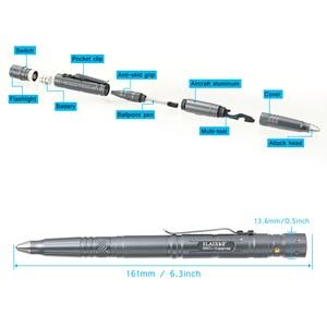 Image 1 - Hot Multi function Tactical Pen Survival Military LED Flashlight Glass Breaker Self Defense Tool Ballpoint Pens NK Shopping