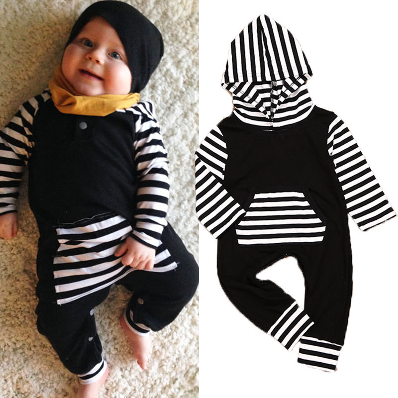 Newborn Infant Baby Boys Girls Clothes Cotton Hooded Romper Jumpsuit Long Sleeve Clothing Outfit Autumn Winter baby boys girls clothes newborn rompers carton infant cotton long sleeve jumpsuits kids spring autumn clothing jumpsuit romper