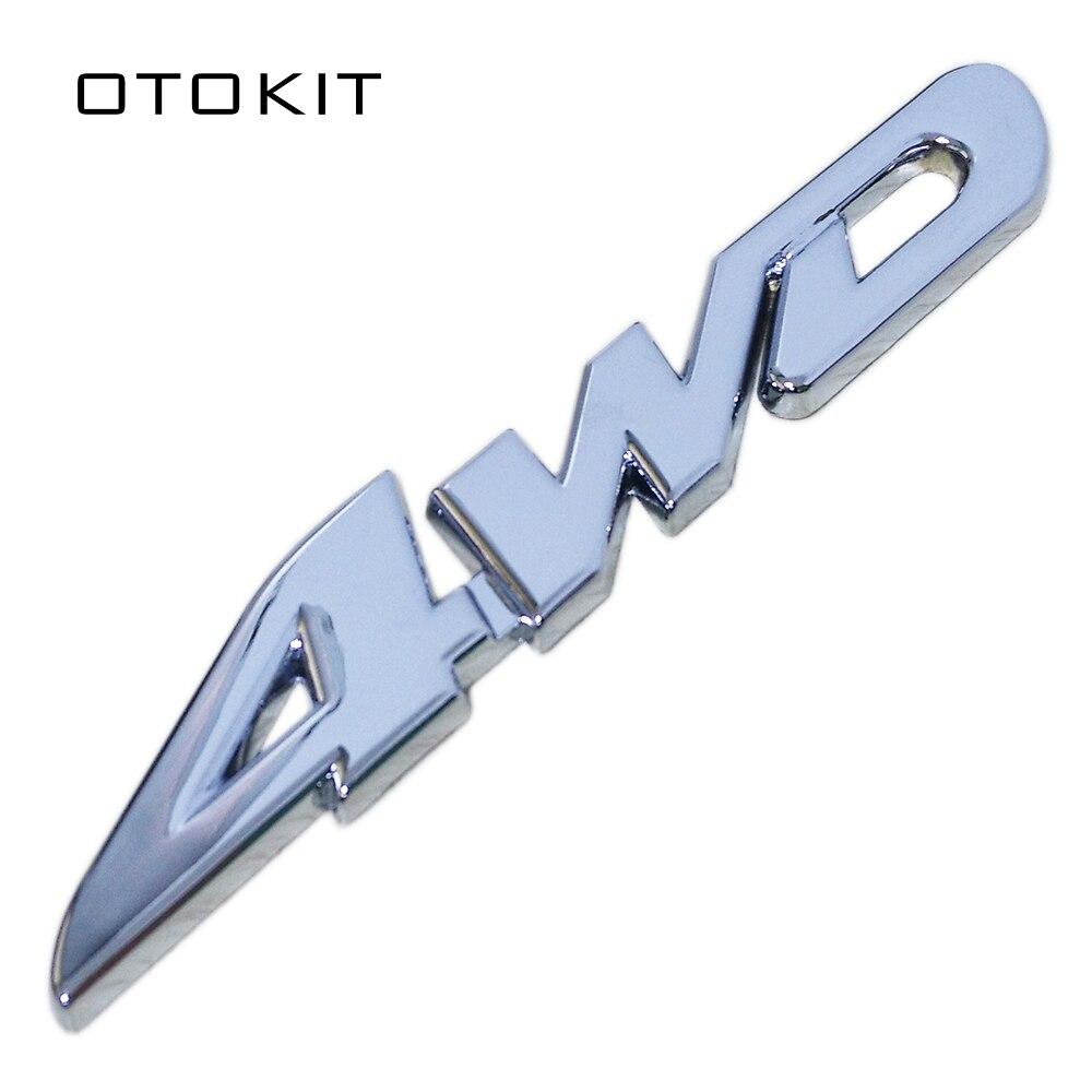 Car Styling 3D Chrome Metal Sticker 4WD Emblem Badge Decal For SUV Rear Trunk Off-road Toyota Highlander RAV4 Tiguan Honda