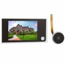 "3.5 ""LCD Espectador de La Puerta de Intercomunicación de Vídeo Digital de 2.0 Megapíxeles Cámara de Vídeo Intercom Monitor de Seguridad para el Hogar F4344A"