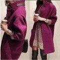 Lã casaco longo da cultivar moralidade magro mostrar fina temperamento feminino de fundo 2015 outono invernos nova chegada