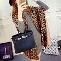 65*195 cm 2016 de la moda Clásica marca bufanda de la cachemira mujeres calientes cómodos de gran tamaño sexy leopardo chal y bufandas de lana poncho