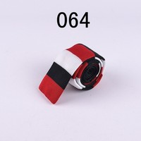 Fashion Knitted Ties Stylish Classic Red with White Striped Vintage Adult Knittedties High Quality Knit Men Tie for Party 064