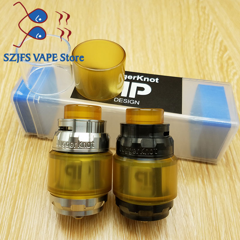 Vape Hot Selling 1:1 QP Juggerknot RTA 28mm Diameter 4ml/6ml Capacity Top Airflow Tank 510 Thread Stainless Steel Fit Mech Mod