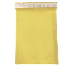 10 пачек желтая почтовая бумага упаковка конверты мешок пузырьковый самоуплотняющийся анти-давление влагостойкий мягкий