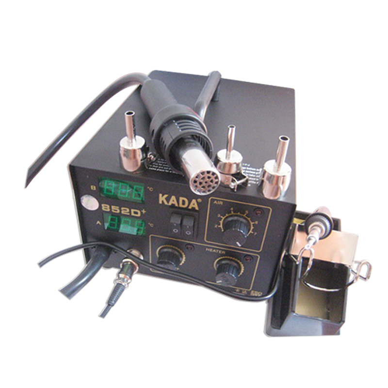 220 V 110 V KADA 852D + SMD système de réparation électrique BGA Station de soudage pistolet à Air chaud et fer à souder 2 en 1