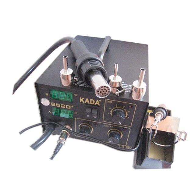 220V 110V KADA 852D+ SMD Repairing System Electric BGA Soldering Station Hot Air Gun & Solder Iron 2 In 1
