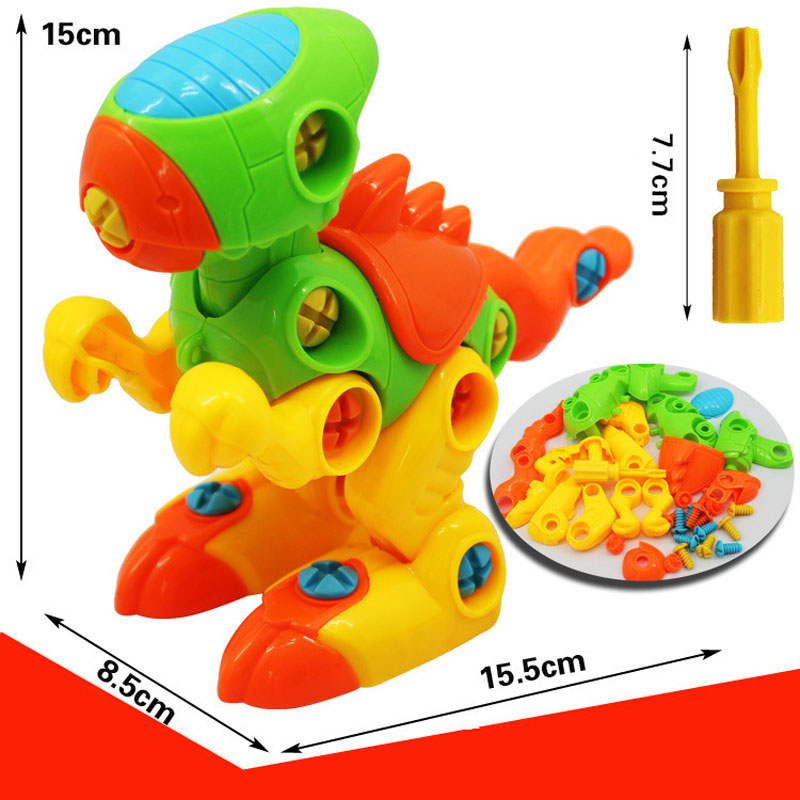 Children's toy Baby Learning Intelligence Plastic Toy Disassembly Assembly Sword dragon Truck Car Animals Model Toys Kids Gifts mr froger carcharodon megalodon model giant tooth shark sphyrna aquatic creatures wild animals zoo modeling plastic sea lift toy