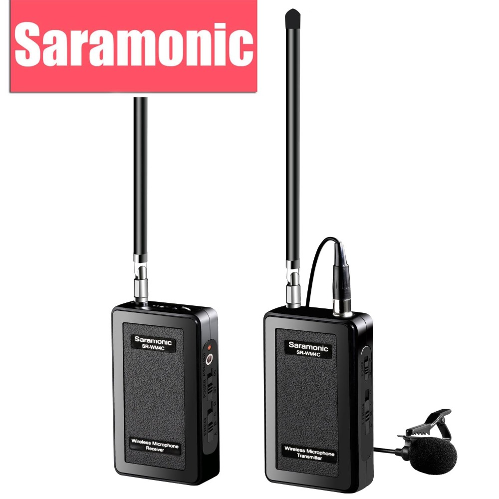 saramonic sr wm4c - Saramonic Interview Lavalier Wireless Microphone System for Canon Nikon DSLR Video Camera Sony DV Camcorder GoPro Hero 3 3+ 4