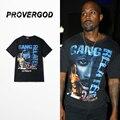PROVERGOD 2017 Hip Hop Patrón de Caracteres Camiseta de Rock de Moda de Verano Tops Camisetas de Manga Corta O Cuello de la Camiseta de Metales Pesados