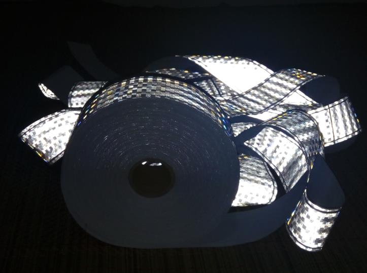 Reflective Safety Warning PVC Strip  Garment accessories safety vest clothing Reflective crystal lattice PVC tapes