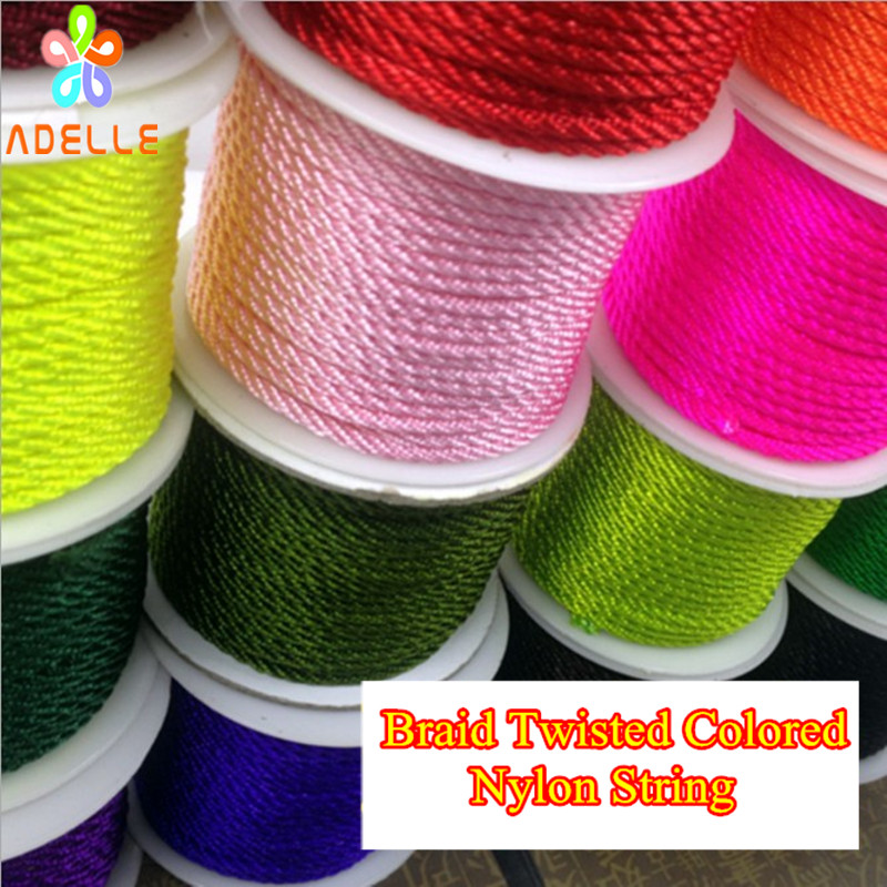 New 3MM DIY 27 Color Chinese Knot Satin Nylon Braided Cord Beading Cords U Pick