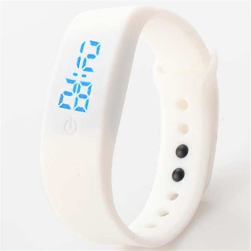 Digital Watches Womens Mens Rubber LED Watch Date Sports Bracelet Digital Wrist Quartz Watch Alarm Clock
