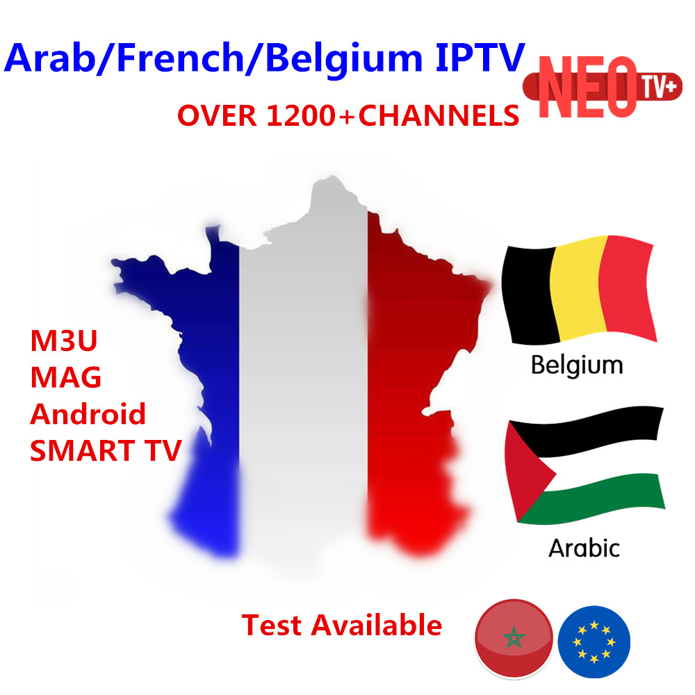 Best French IPTV X96 Android TV Box with 1200 Channels-European Europe Arabic France Belgium NEO IPTV Code Live TV Smart set top