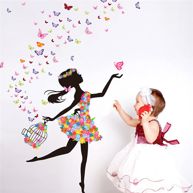 Lovely Girl Wall Sticker