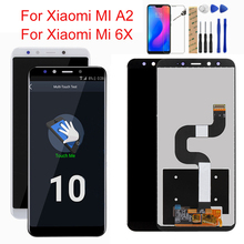 Original For XIAOMI Mi A2 LCD Display Digitizer 10 Touch Screen Panel For XIAOMI Mi 6X LCD Digitizer Replacement Repair Parts new and original mi lcd panel