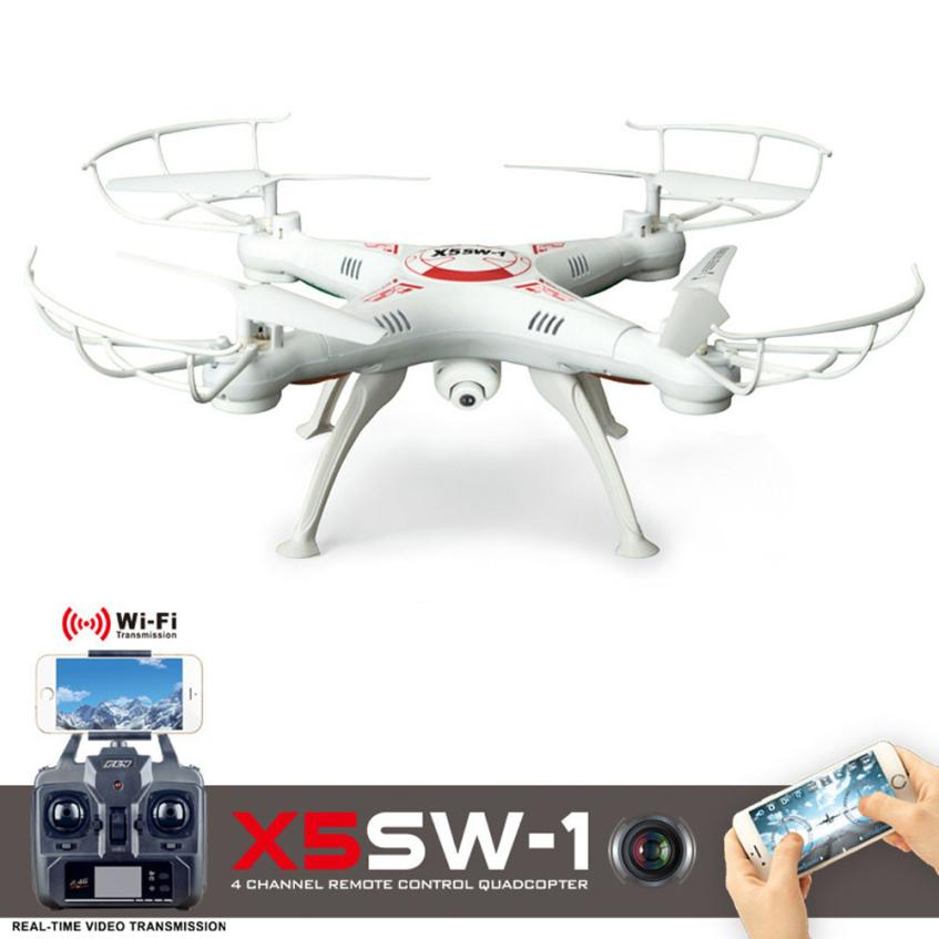 Quadcopter X5SW-1 6-Axis Gyro 2.4G 4CH Real-time Images Return RC FPV Quadcopter drone  wifi with HD Camera High quality A14 free shipping jxd 510g 5 8g fpv real time 2 0mp camera 4ch 6 axis gyro rc quadcopter barometer