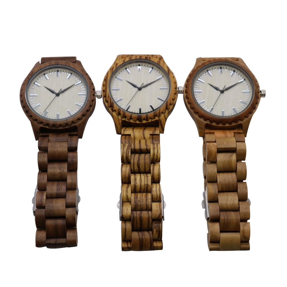 TJW Hombre Relojes De Madera Natural Hombres Reloj de Madera Antiguo - Relojes para hombres - foto 1