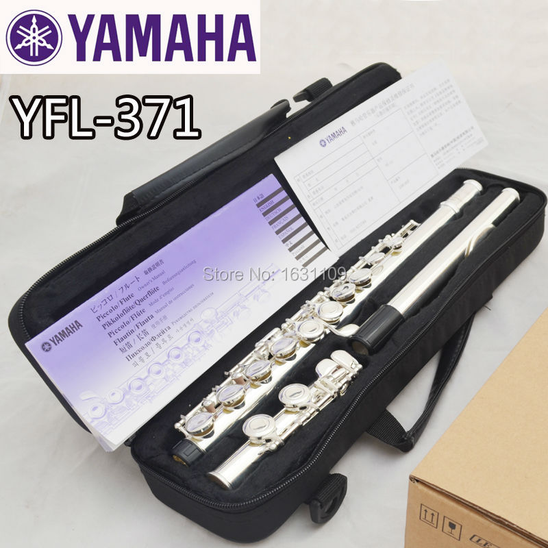 Free Shipping New High Quality Brand Flute YFL 371 Silver Plated 16 Closed Holes C Key