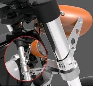 Image 5 - Universal Motorcycle CNC Aluminum Healight bracket Moto Mount Bracket Fork For Kawasaki KLR650 KL250 Super Sherpa KL650 KLX250SF