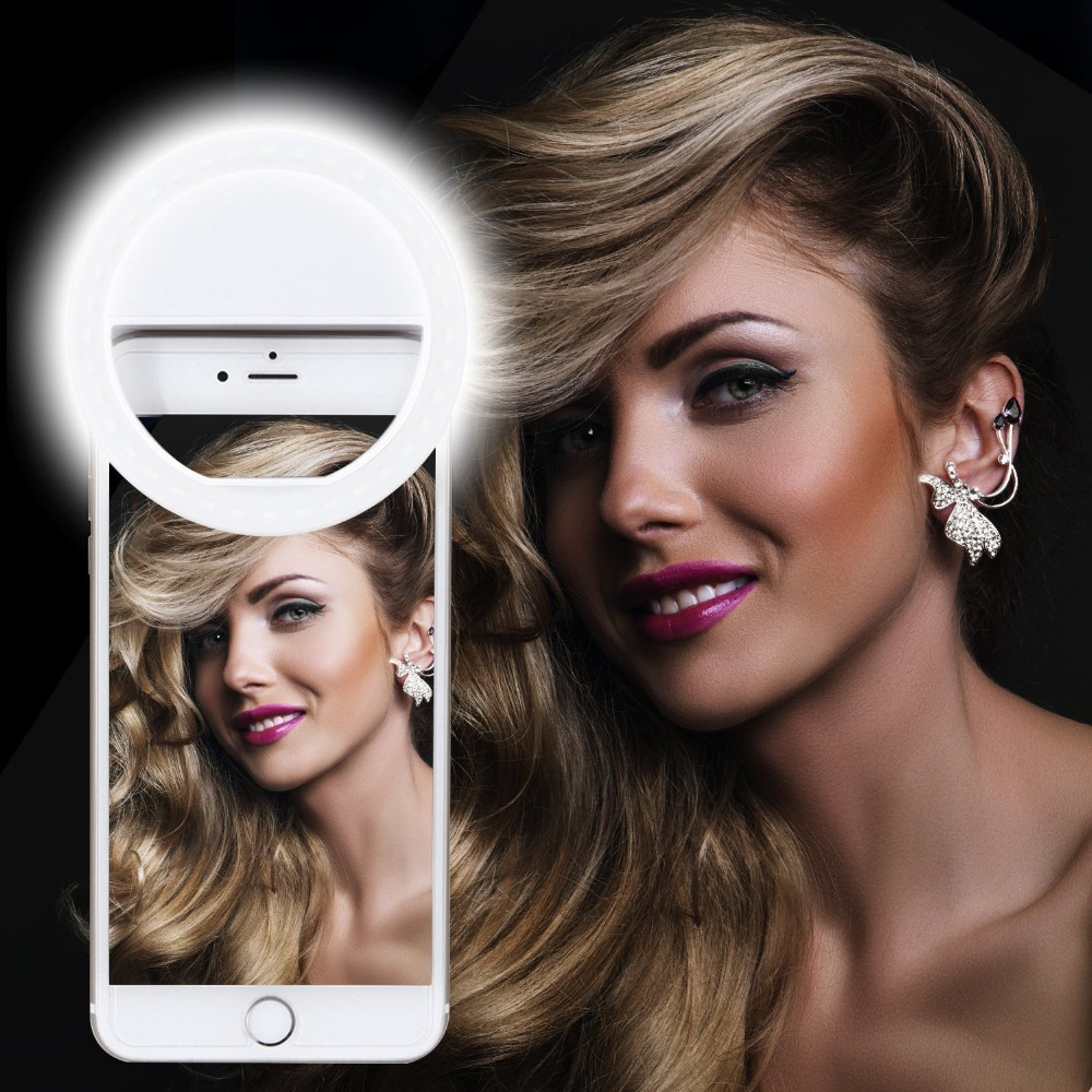 Selfie Ring Light Rechargeable Portable Clip-on Selfie Fill Light For Phone Photography Camera Video Girl Makes Up Flashlight