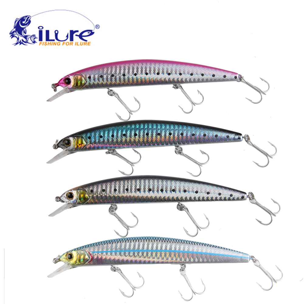 iLure fishing bait hard lure 4pcs/lot 130mm/20g hook VMC Minnow Wobblers fishing tackle wldslure 1pc 54g minnow sea fishing crankbait bass hard bait tuna lures wobbler trolling lure treble hook