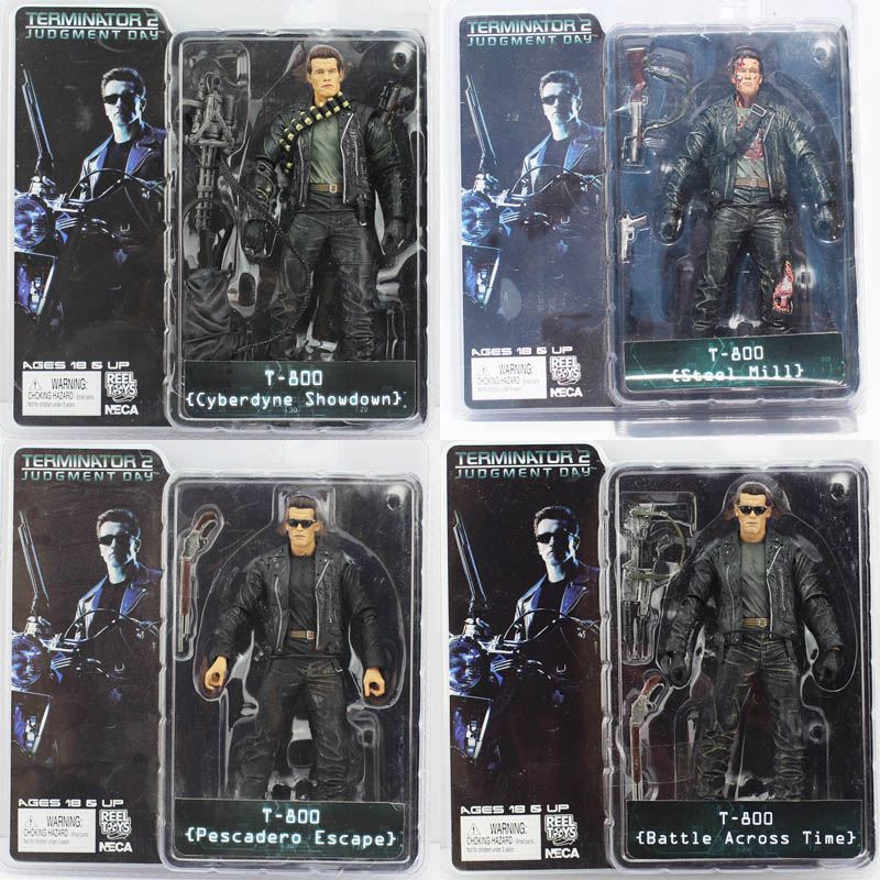 4Pcs Lot NECA The Terminator 2 Figures Cyberdyne Showdown Action Figure Toys Model Dolls Great Gift