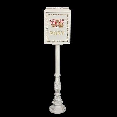 Вертикальный почтовый ящик из алюминиевого сплава вертикальный металлический ящик для почтовыx писeм деревенский почтовый ящик садовый уличная поставка - Цвет: Темно-серый
